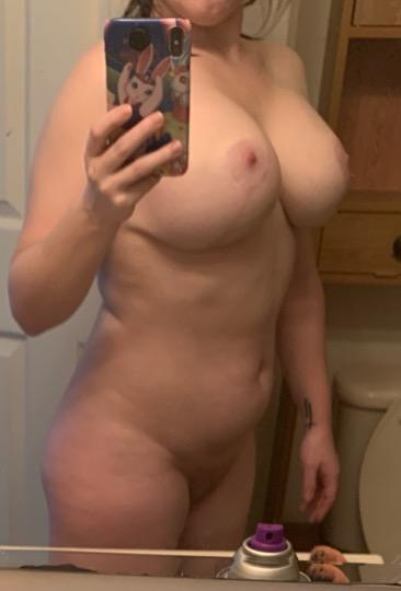 red head with HUGE tits begging you to CUM ON THEM